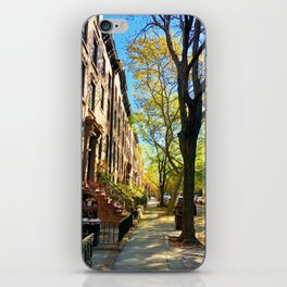Cobble Hill Brooklyn New York in the Fall, Brownstones iPhone Skin