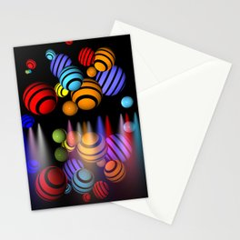 colors, spotlights and many spheres Stationery Cards