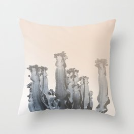 Cacti photo, soft palette, Throw Pillow