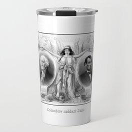 Presidents Washington and Lincoln Travel Mug