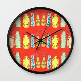 Bottle Pattern Wall Clock