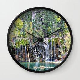 Hanging Lake, Colorado Wall Clock