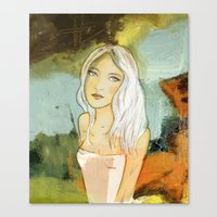blondie Canvas Prints featuring blondie  by Agnes Laczo