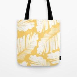 Yellow Banana Leaves Dream #1 #tropical #decor #art #society6 Tote Bag