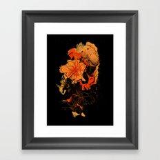 Pollination Dark Fire Framed Art Print