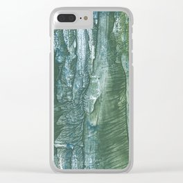 Blue green Clear iPhone Case