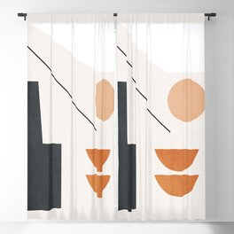 Abstract Minimal Shapes 38 Blackout Curtain