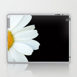 Hello Daisy - White Flower Black Background #decor #society6 #buyart Laptop & iPad Skin