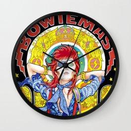 BOWIEMAS 9 - Rebel Rebel / Alphonse Mucha - 2013 Wall Clock