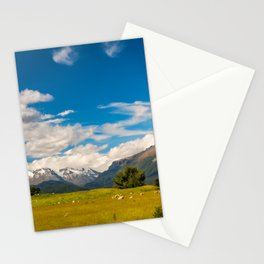 Beautiful Pastoral Alpine Landscape in New Zealand Stationery Cards