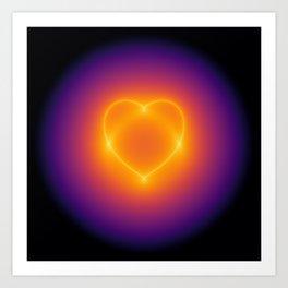 heart curve Art Print