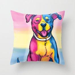 Gay Pride Pups Throw Pillow