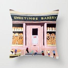 Sweetings Bakery Throw Pillow