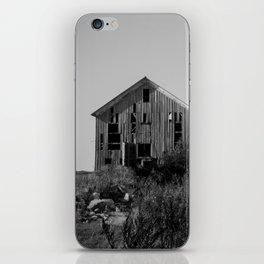 Abandoned Barns (Black & White Photography) iPhone Skin