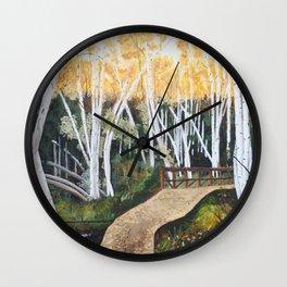 Trail Through the Birch Wall Clock