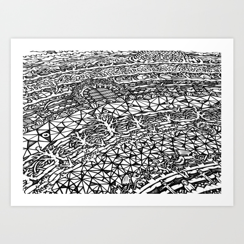 Dante S Inferno Artwork Art Print