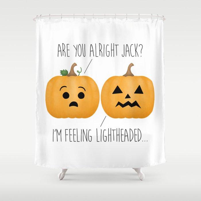 Lightheaded Jack-O-Lantern Shower Curtain