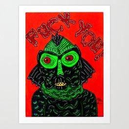 crass monster Art Print