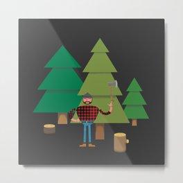 Work Proud Lumberjack Metal Print