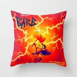 Barbarian Girl in a Barbarian World Throw Pillow
