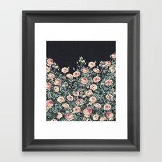 Vintage Garden (Night Roses) Framed Art Print