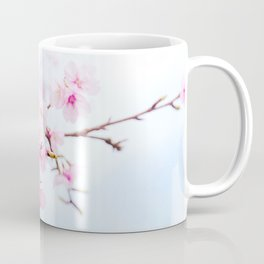 Japanese cherry-blossom tree, 'Oh-kanzakura' Coffee Mug