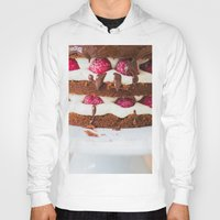 cake Hoodies featuring Cake by Jovana Rikalo