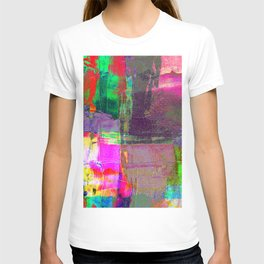 Abstract hand painted bold colors watercolor brushstrokes T-shirt