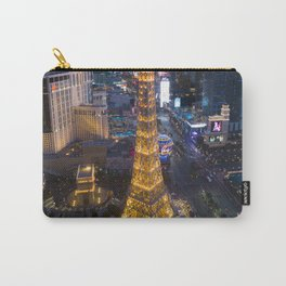 Aerial view of the Eiffel tower in Las Vegas Carry-All Pouch