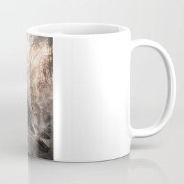 Black bird and the foggy path Coffee Mug