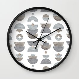 semicircle pattern Wall Clock