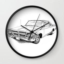 64 Chrysler 300 Wall Clock
