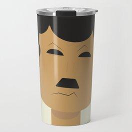 Charlie Chaplin, Modern Times, minimal movie poster, classic film, Charlot, Hollywood Travel Mug