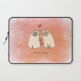 Sharing is caring Laptop Sleeve