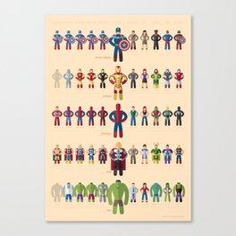 M superheroes evolution Canvas Print