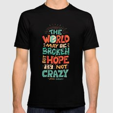 Hope is not crazy MEDIUM Black Mens Fitted Tee