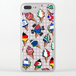 Ice cream flags Clear iPhone Case