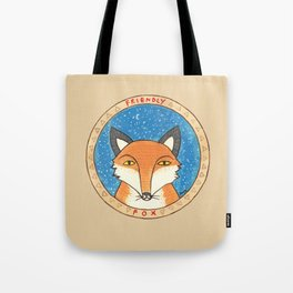 Friendly fox Tote Bag