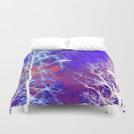 The Bird, the Nest and the Spooky Trees 2 Duvet Cover