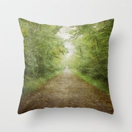 The Road to Somewhere Else Throw Pillow