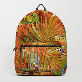 Tropical Leaves Abstract Backpack