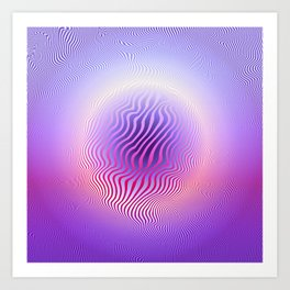 Ultraviolet Pulse Art Print