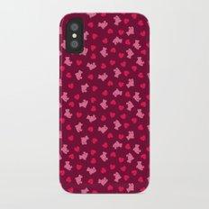 Teddies and hearts Slim Case iPhone X