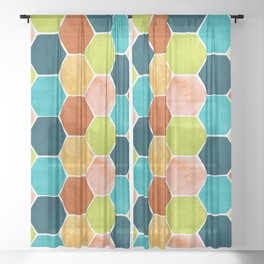Modern Moroccan Pattern Sheer Curtain