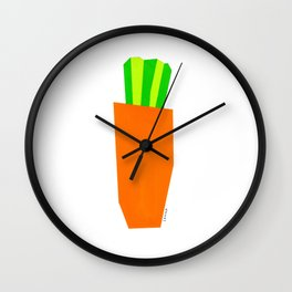 Food Vegetable Painting Illustration Vegan Vegetarian Pop Modern Scandinavian Wall Clock