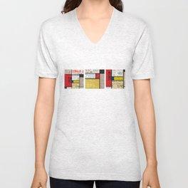 Mondrian's News Unisex V-Neck