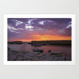 Lanescove Sunset Art Print