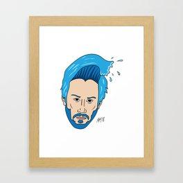 Keanu Waves Framed Art Print