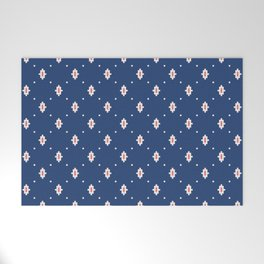 Tiny Diamond Pattern Navy Welcome Mat