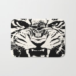 White Tiger Vector Bath Mat